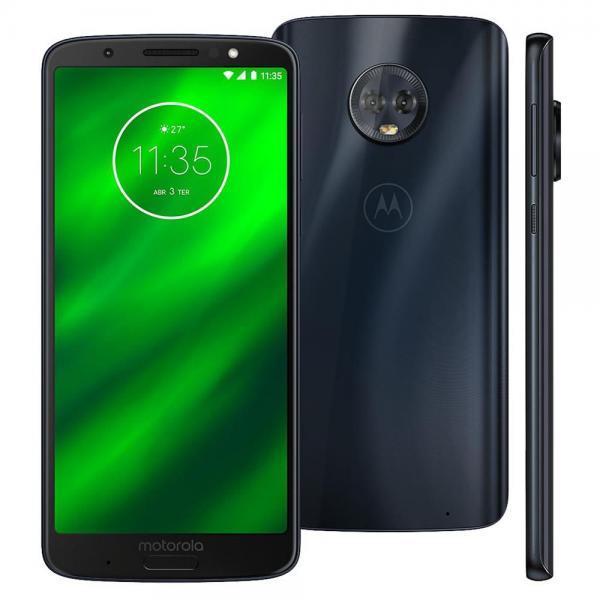 "Smartphone Motorola Moto G6 Plus XT1926 Índigo 64GB, Tela de 5.9"", Dual Chip, Android 8.0"