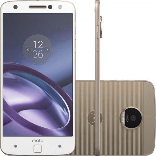 "Smartphone Motorola Moto Z XT1650 32GB LTE Dual Sim 5.5"" Câm.13MP+5MP-Branco"