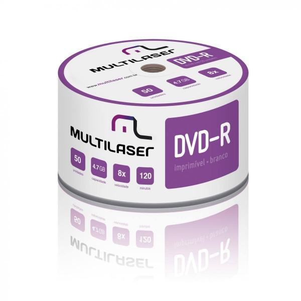 DVD-R Imprimível 4.7GB 8x Shrink c/ 50 unid Multilaser - DV052