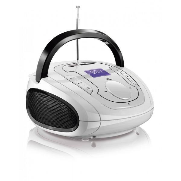 Caixa De Som Boombox Bluetooth 5 Em 1 Branco E Preta Multilaser - SP185