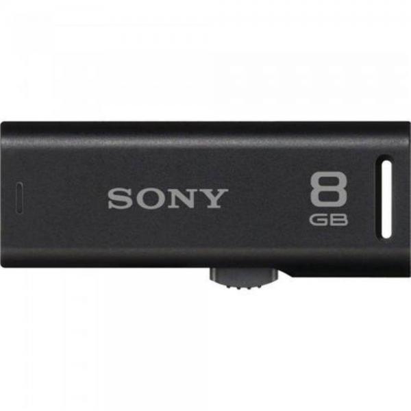 Pen Drive 8GB Conector Retrátil Preto - Sony -  USM8GR/B
