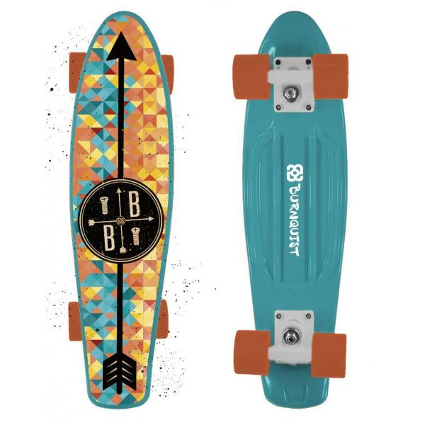 Skate Mini Cruiser Bob Burnquist Azul Atrio - ES093