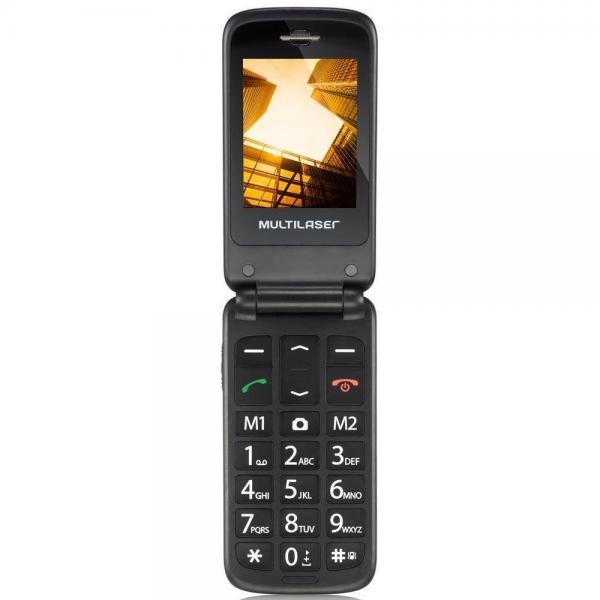 Celular Flip Vita Câmera Rádio MP3 Lanterna Botão SOS Dual Chip Vermelho Multilaser - P9021