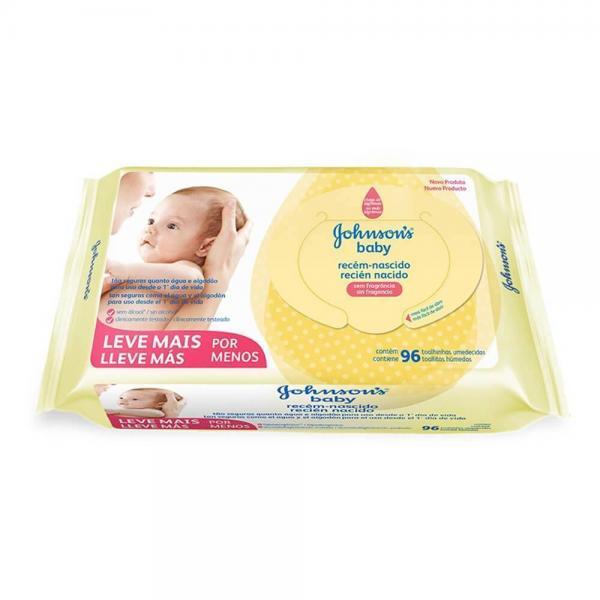 Lenços Umedecidos Johnson&Johnson Baby Recém Nascido 96 Unidades