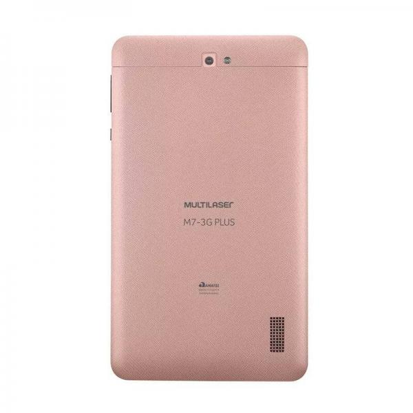 Tablet Multilaser M7 3G Plus Quad Core 1GB RAM Camera Tela 7 Memoria 8GB Dual Chip Rosa - NB271