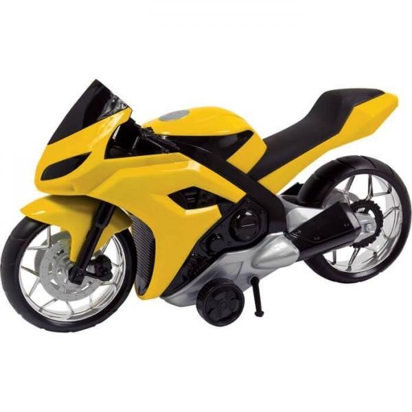 Moto Evolution Amarelo 186E - Bs Toys