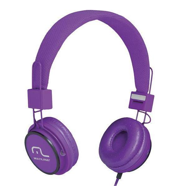 Headphone Head Fun com Microfone P2 3,5mm Hi-Fi Roxo - Multilaser - PH090