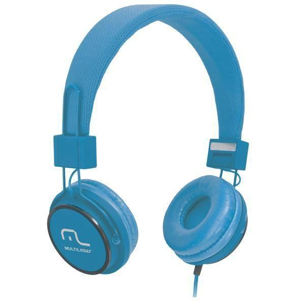 Headphone Head Fun com Microfone P2 3,5mm Hi-Fi Azul Multilaser - PH089